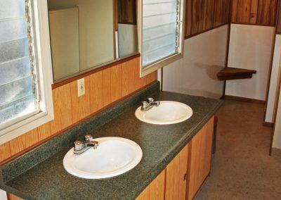 Clean bathroom facilities available at Quail Trails Village RV Park.